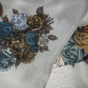 Vintage Accessories - VINTAGE RAYON 50S SCARF AND TRIO VTG NYLON SCARVES